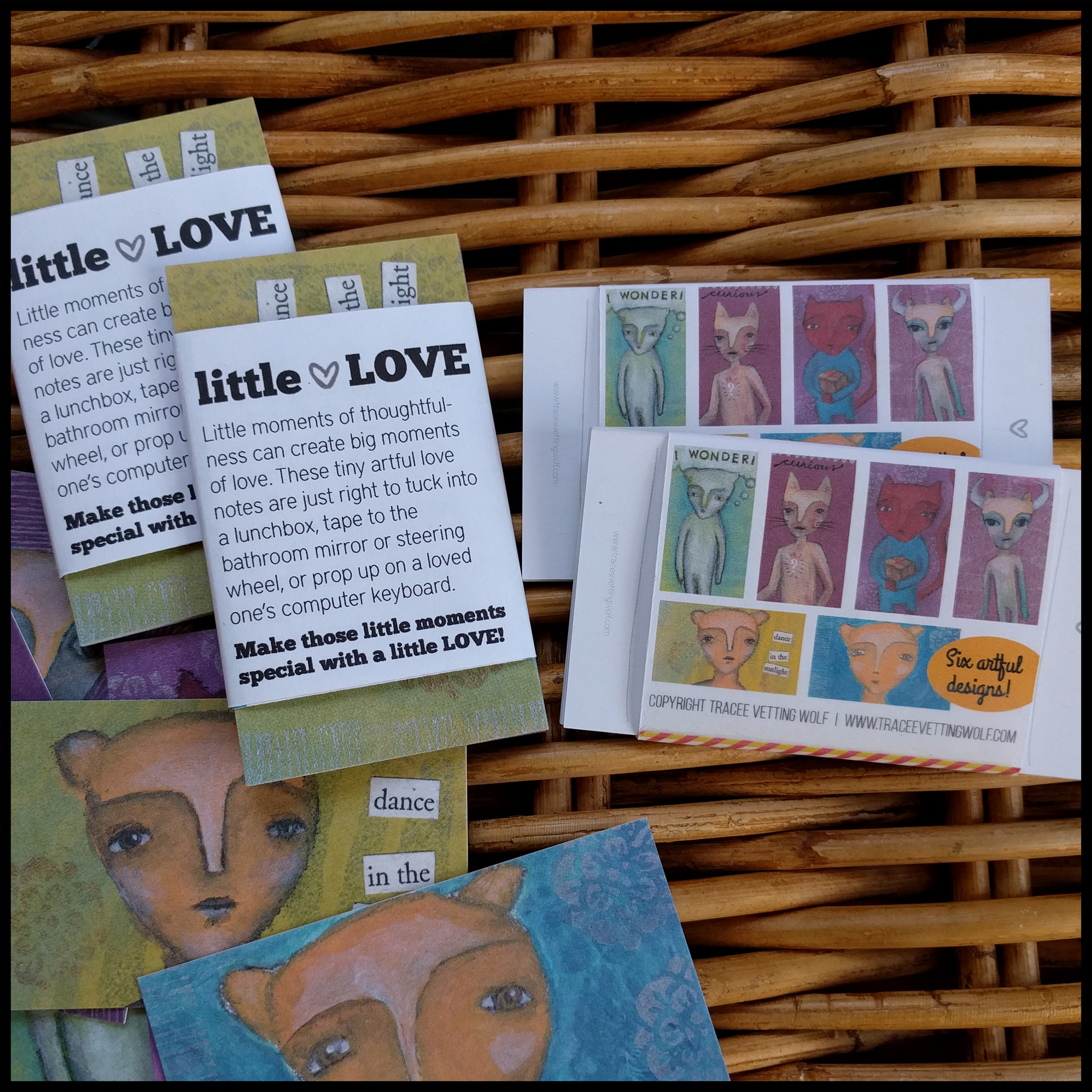 Bathroom Mirror Love Notes little love: imaginary creatures mini lovenotes - tracee vetting wolf