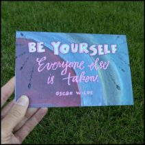 """Be Yourself"" greeting card with envelope"