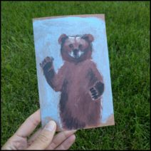 Waving Bear Greeting Card with Envelope