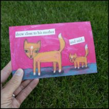 """Drew Close"" greeting card with envelope"