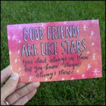 """Good Friends"" greeting card with envelope"