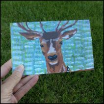 """Yes Deer"" greeting card with envelope"