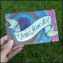 """You Rock!"" greeting card with envelope"