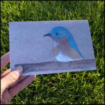 """A Little Birdie"" greeting card with envelope"